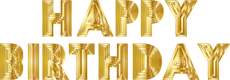Clipart - Happy Birthday Typography 7