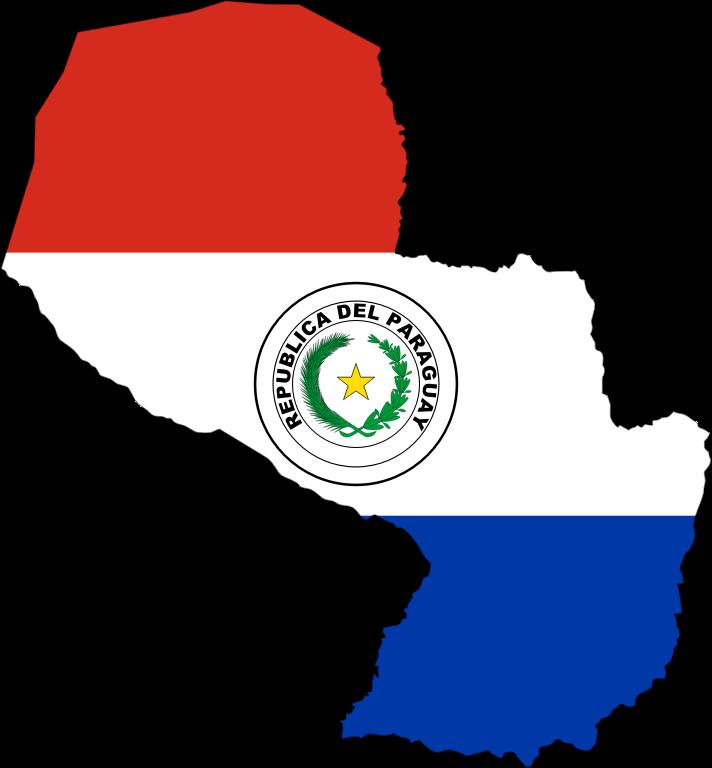 Clipart - Paraguay Map Flag