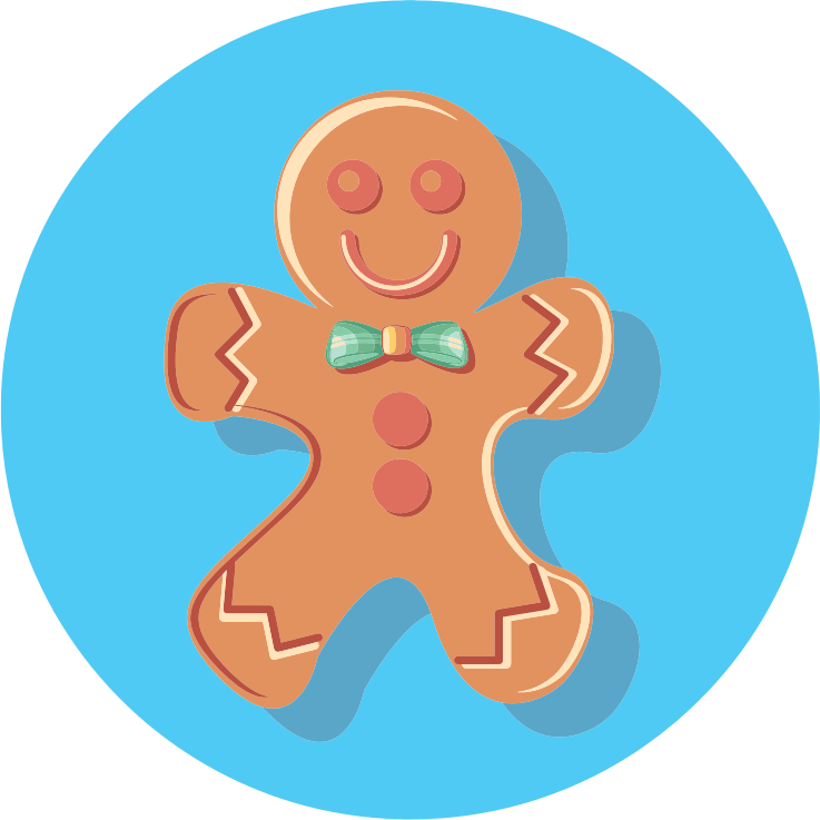 Clipart - Gingerbread Man Icon