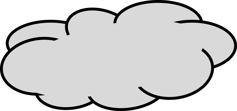 clipart grey cloud 3