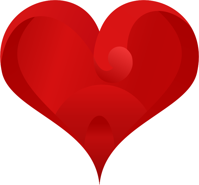 Clipart - Stylish Red Heart