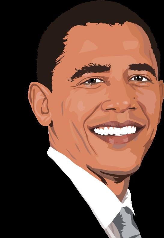 clipart realistic barack obama portrait Barack Obama Cartoon Clip Art Barack Obama Cartoon Clip Art