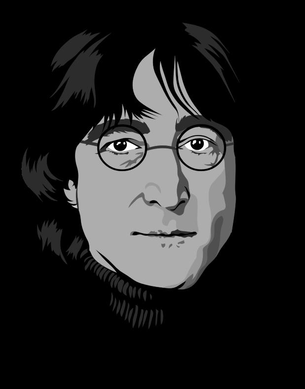 Line Drawing John Lennon : Clipart john lennon portrait