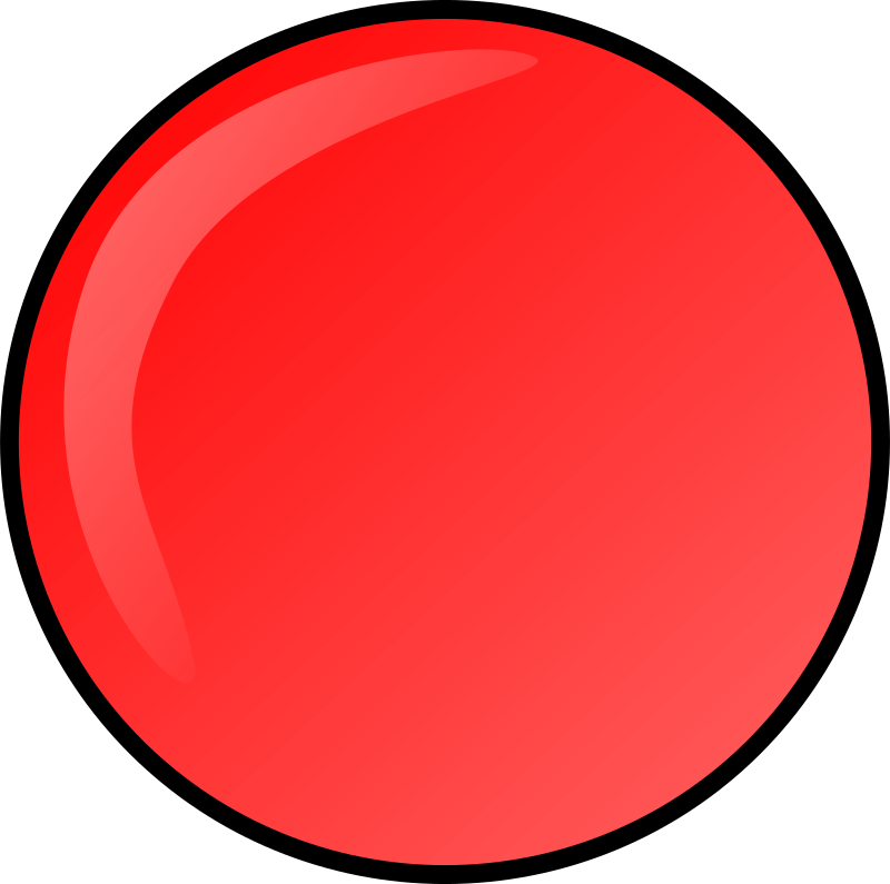 red round button by Anonymous