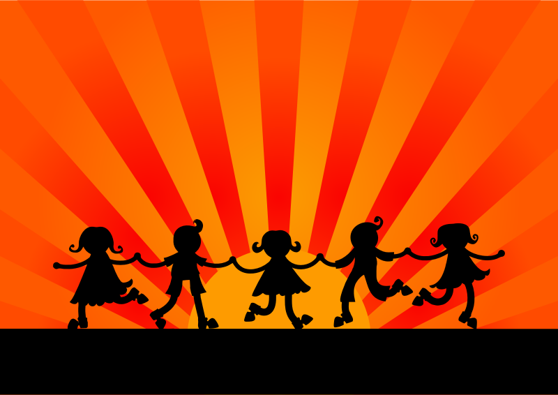 clipart dancing sunset children sunburst clip art vector free sunburst clipart background