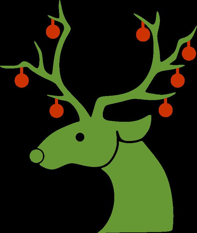 Clipart - Christmas Reindeer