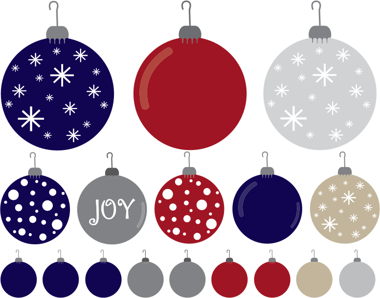 Clipart - Christmas Ornaments Set