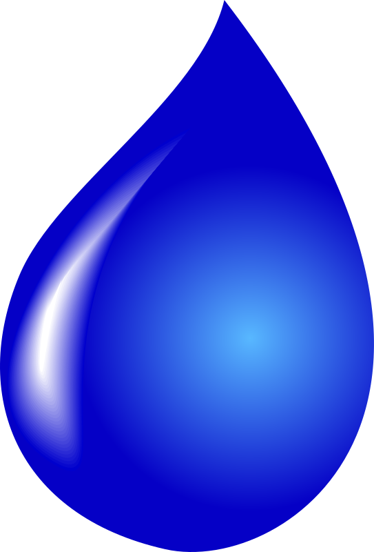 water drop by tomas_arad - drop, blue, water