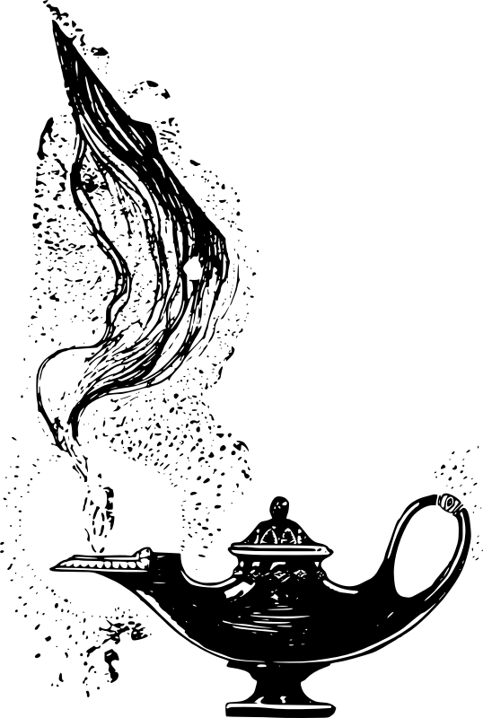 Clipart - Genie Lamp