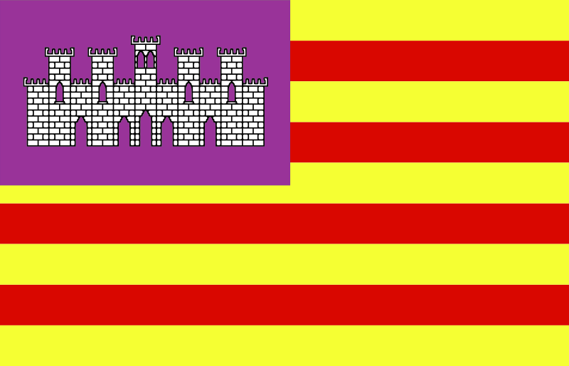 Flag of Baleares - Spain by Anonymous - Flag of Baleares - Spain.