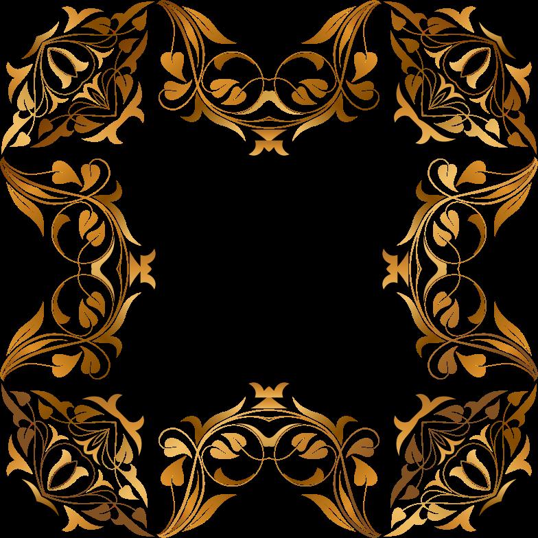Clipart - Floral Flourish Frame 36
