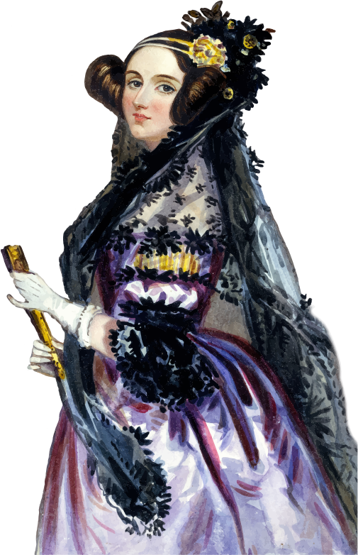 Clipart - Ada King Countess Of Lovelace Portrait