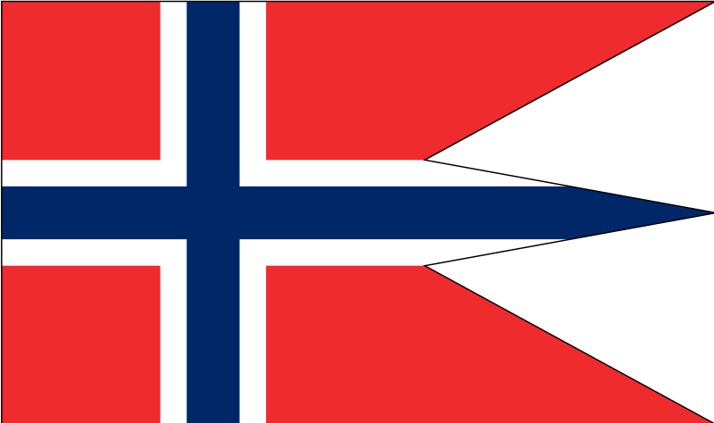 Norwegian state and war flag by Anonymous - Norwegian flag by Federico Zenith. From old OCAL website.