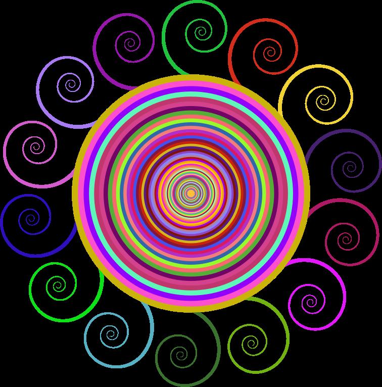 Clipart Abstract Spiral Circle