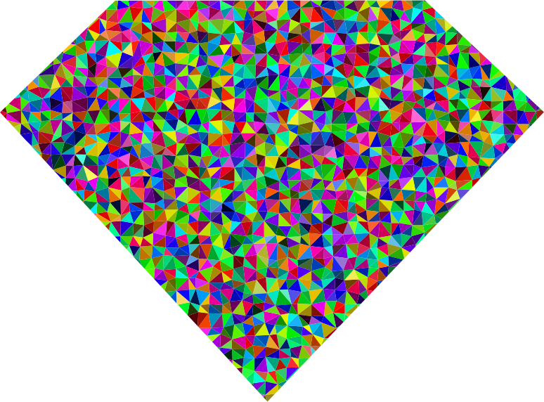 Clipart Prismatic Low Poly Diamond