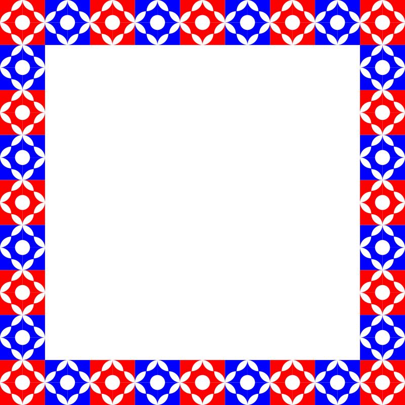 Clipart Frame Sq Circle Motif