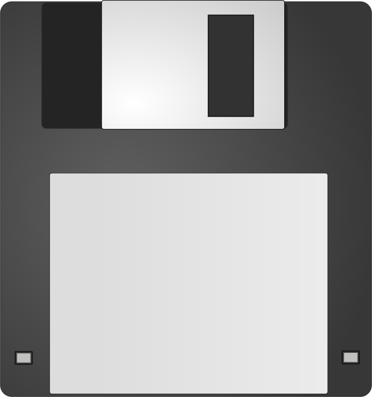 Floppy by Anonymous - Floppy disc icon by Frédéric Moser. From old OCAL website.