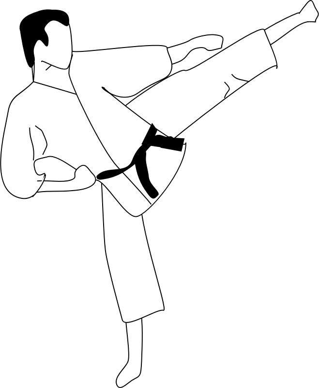 Karate kick by Anonymous