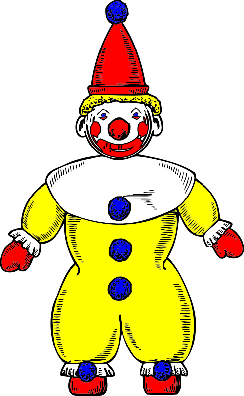 clown by johnny_automatic - a front view of a clown from a U.S. patent drawing