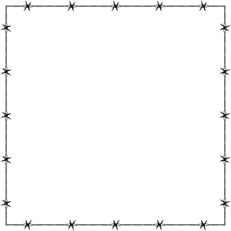 Clipart - Barbed Wire Frame Border