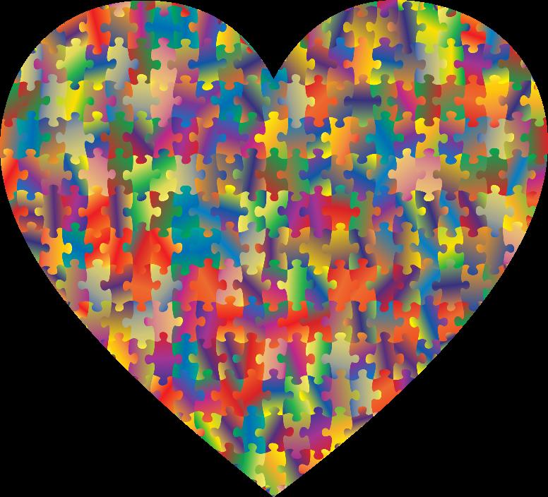 clipart colorful puzzle heart 5 clipart border designs clipart border baby boy