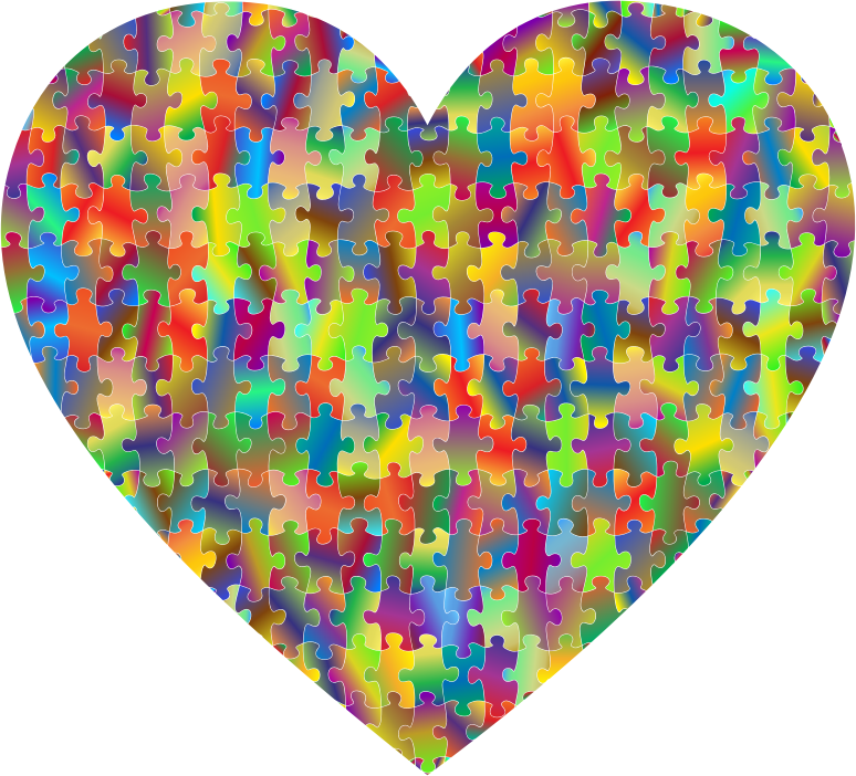 Clipart Colorful Puzzle Heart 7