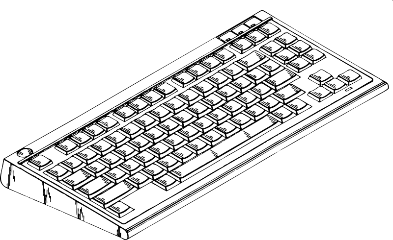 computer keyboard 2 by johnny_automatic - a computer keyboard from a U.S. patent drawing