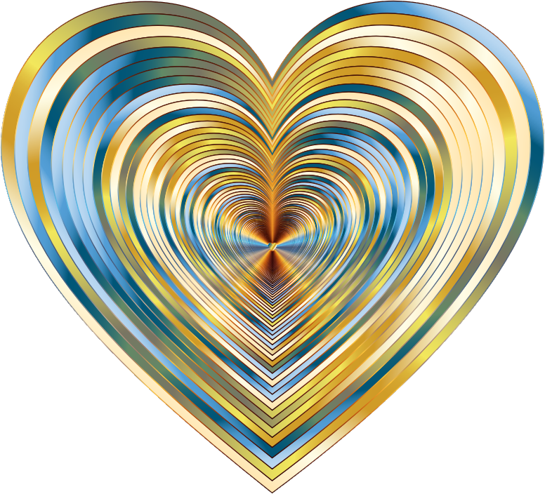 Clipart Psychedelic Hearts Tunnel 17