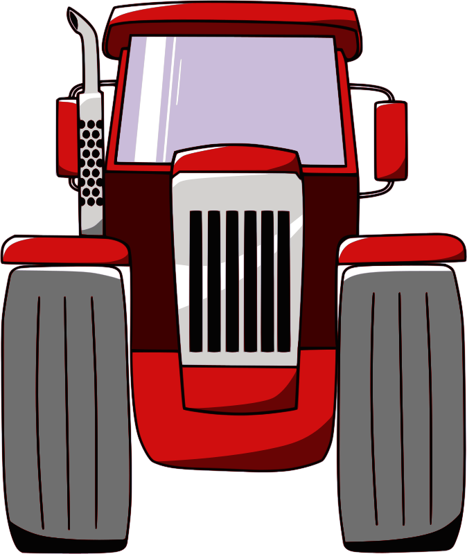 Small Tractor Cartoon : Clipart tractor