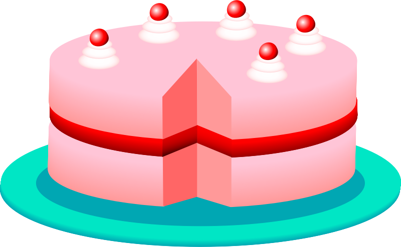 Pink cake by Anonymous - Pink cake by Gabrielle Nowicki. From old OCAL site.