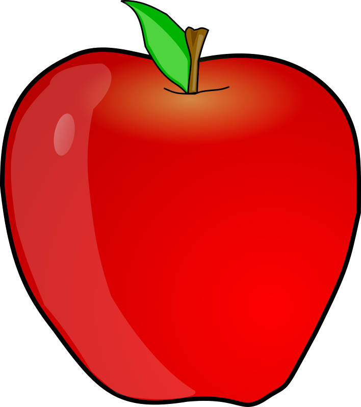 Another apple by Anonymous - Yummy red cartoon apple by Greg. From old OCAL site.