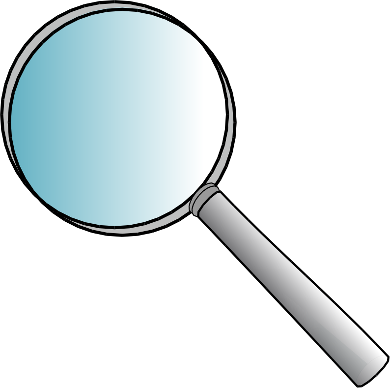clipart magnifying glass detective - photo #49