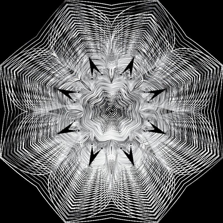 Line Art Transparent Background : Clipart prismatic floral line art no background