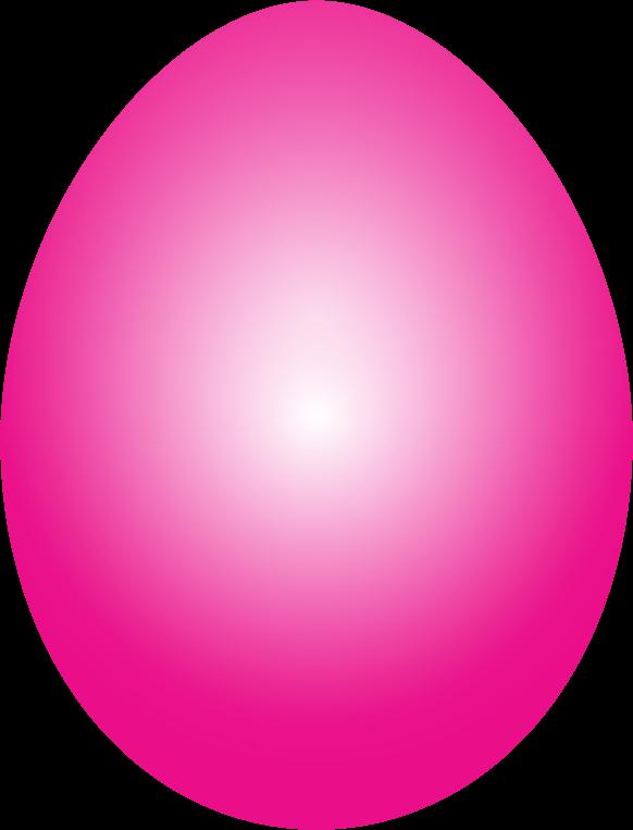 Clipart - Magenta Easter Egg
