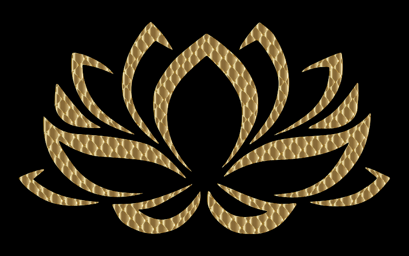 Clipart Golden Lotus Flower 4