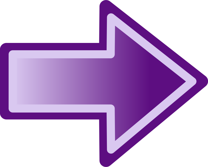 Purple arrow shape by jwalden - A simple purple arrow with a gradient emphasizing motion.