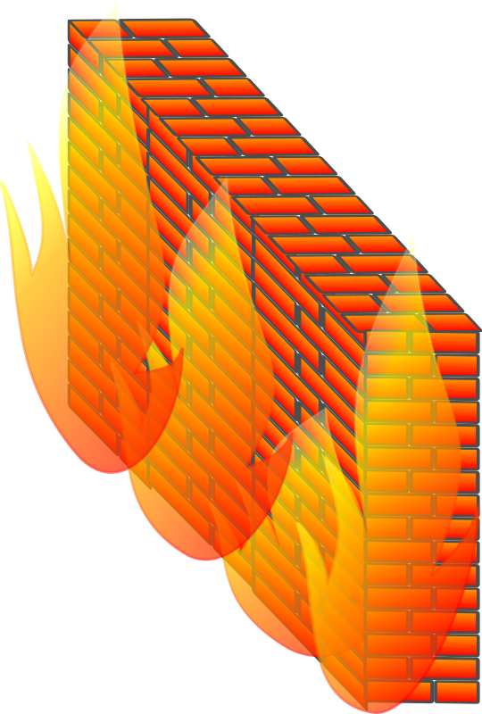 Firewall by Anonymous - Firewall symbol by HASH(0x89c79d4). From old OCAL site.  If this is your clipart, please reclaim it by emailing love@openclipart.org