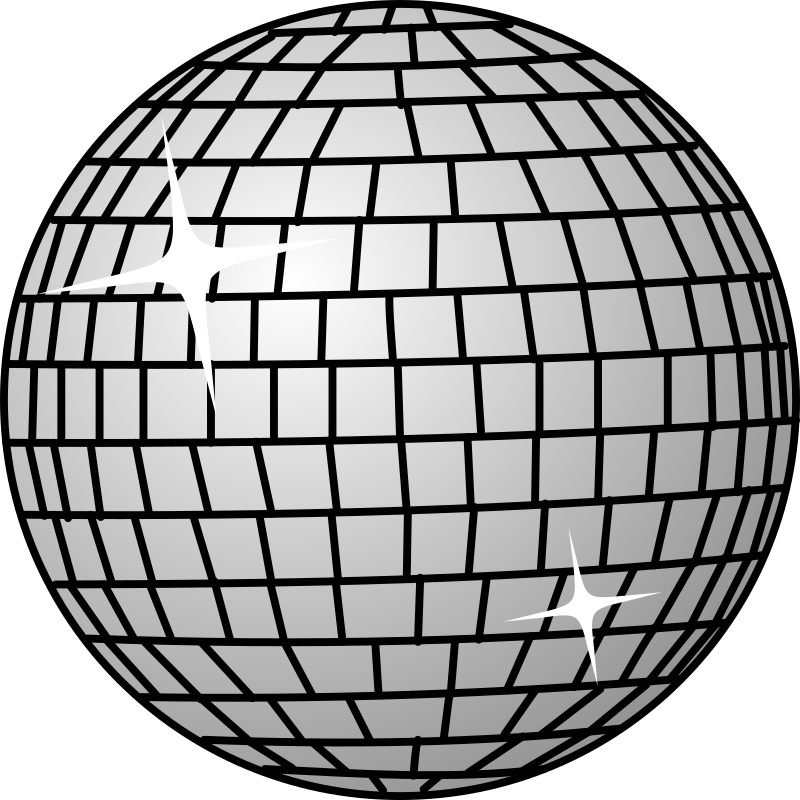 Disco ball by hs - Disco ball by Hermann Schwarting. From old OCAL site.
