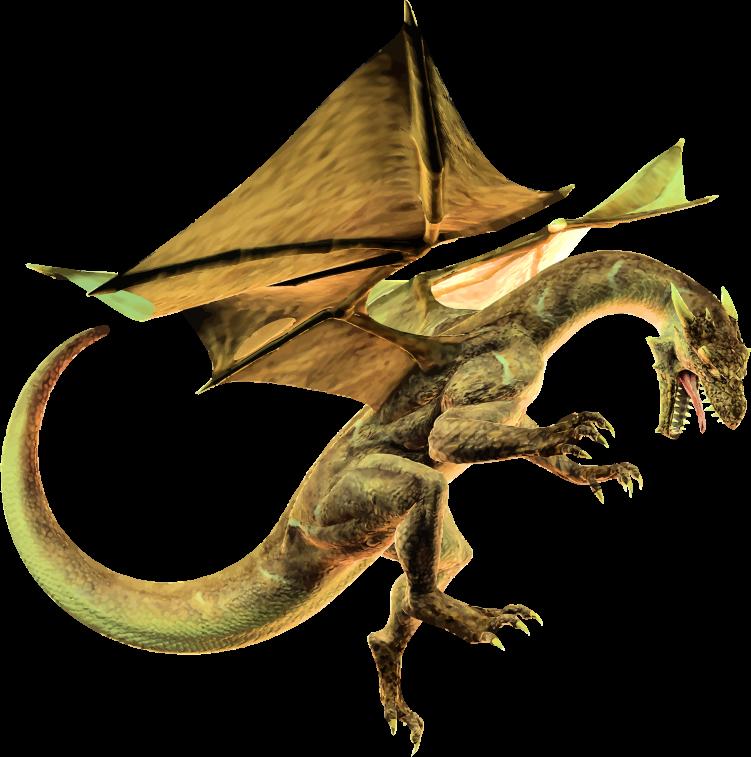Clipart - Yellow Drago...