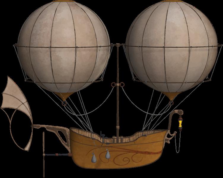 Clipart - Vintage Air Ship