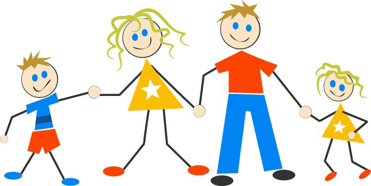 Clipart - Stick Figure Family 4