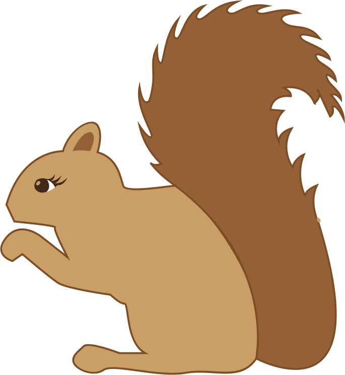 Clipart - Squirrel Profile