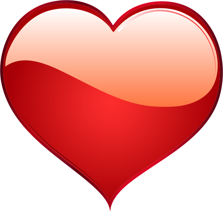 Clipart - Shiny Red Heart