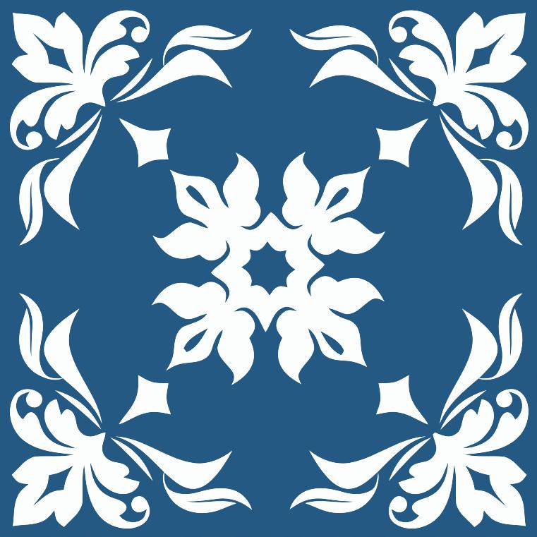 Clipart Floral Flourish Tile