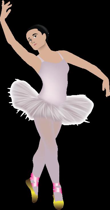 Clipart - Pink Tutu Wearing Ballerina