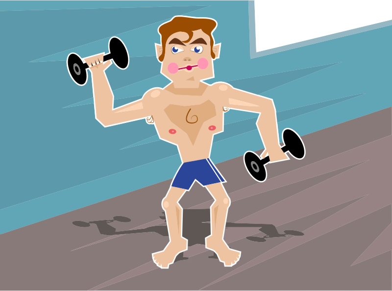 Clipart - Fitness Fanatic