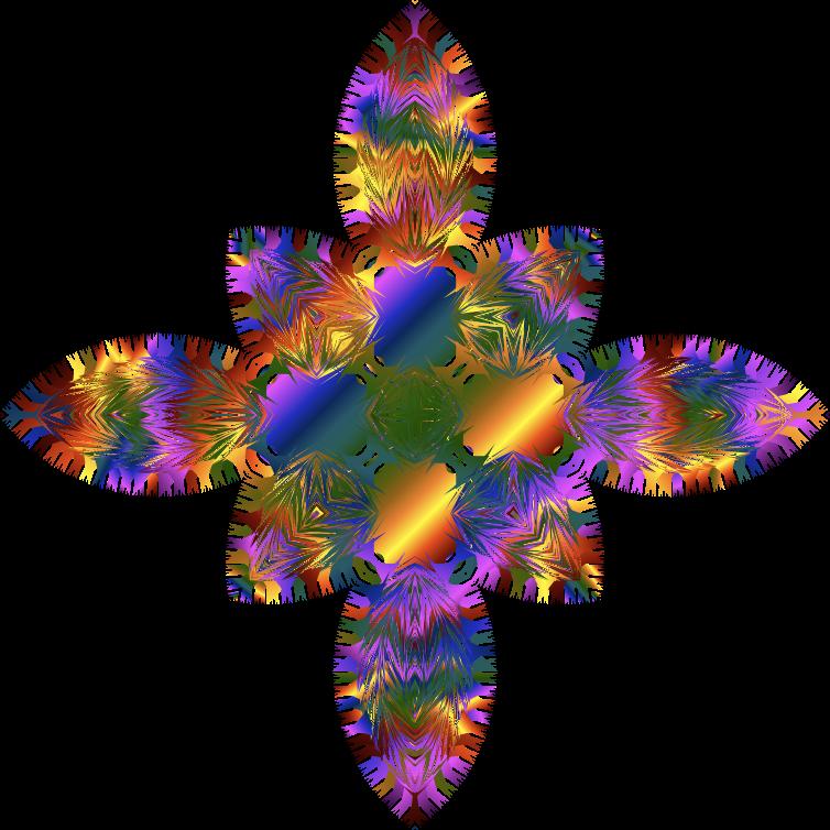 Clipart Prismatic Line Art Design No Background