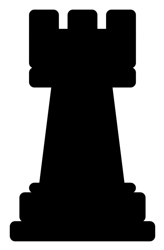 Chesspiece - rook by Anonymous - Chess rook by Jakob. Form old OCAL site.