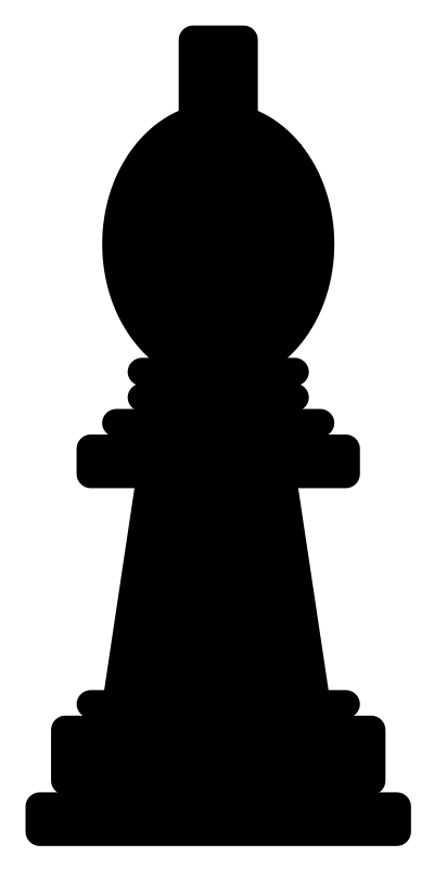 Chesspiece - bishop by Anonymous - Chess bishop silhouette by Jakob. From old OCAL site.