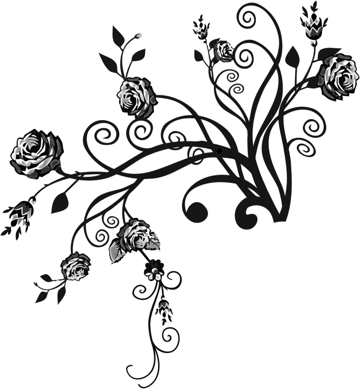 Clipart - Rose Floral Flourish 14